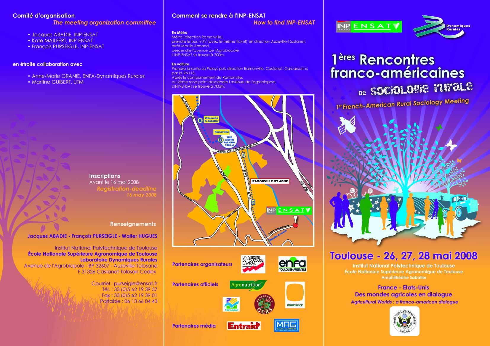 Programme rencontres franco-américaines de sociologie rurale Extérieur