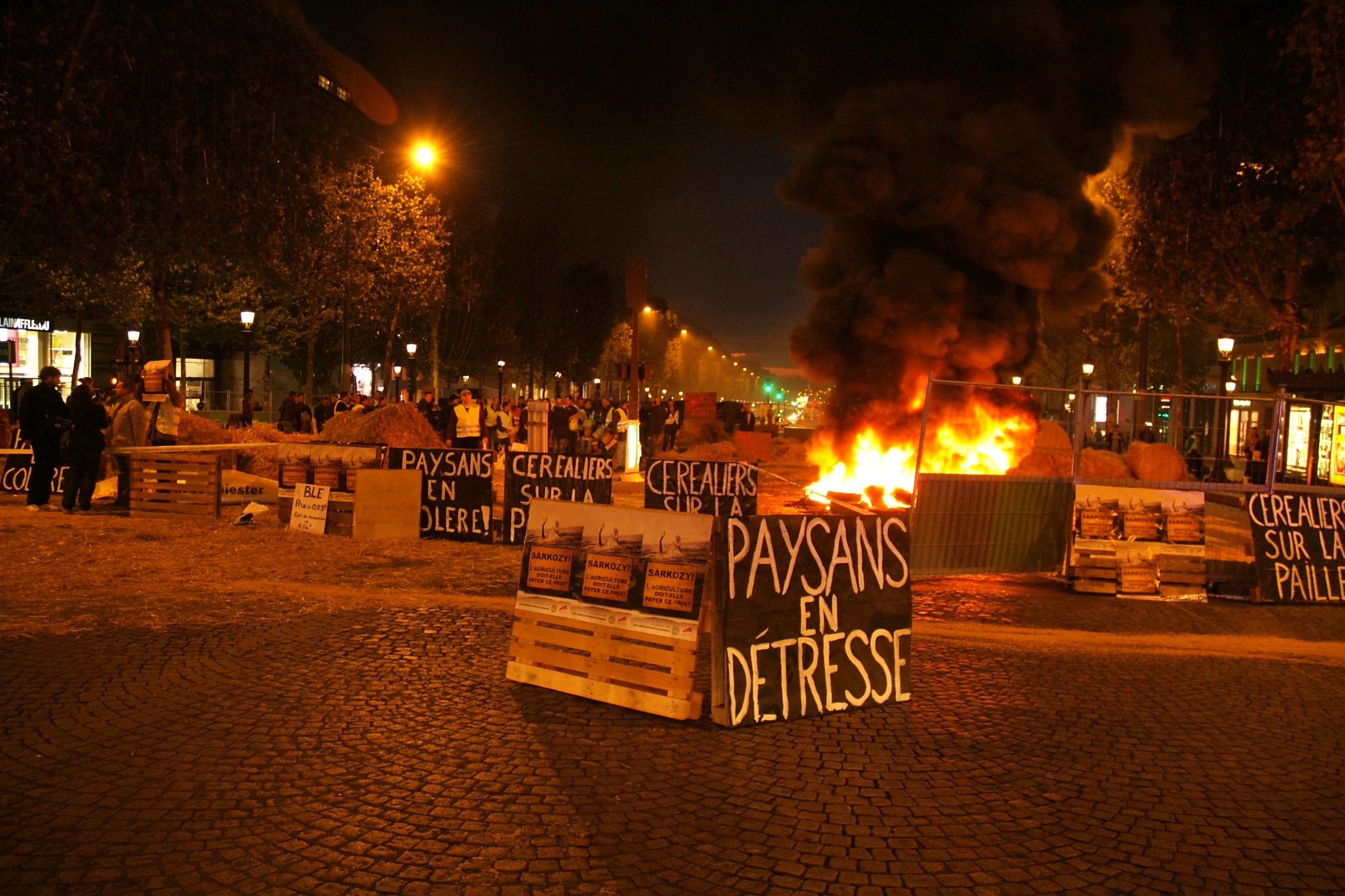 Manif JAIDF  Champs Elysées 161009© Log@n Laurent Le Gall