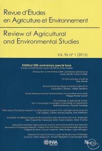 Revue d'Etudes en Agriculture et Environnement